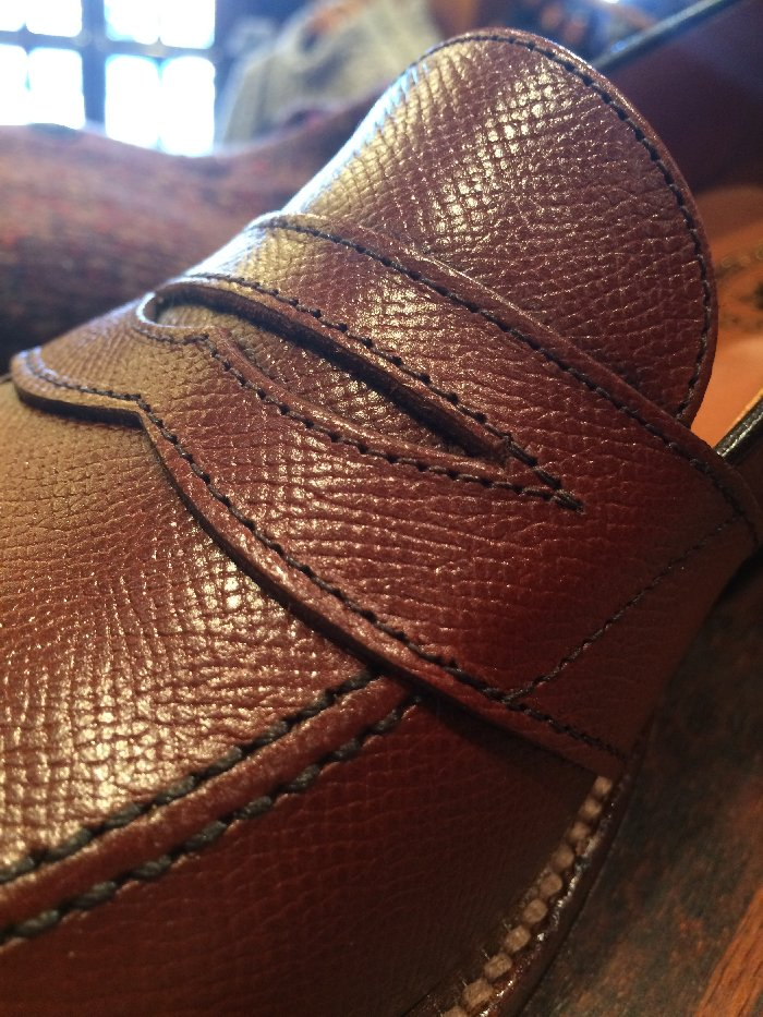 Alden shoes front detail