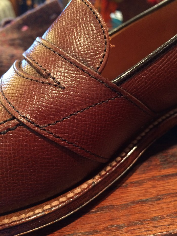 Alden shoes side detail