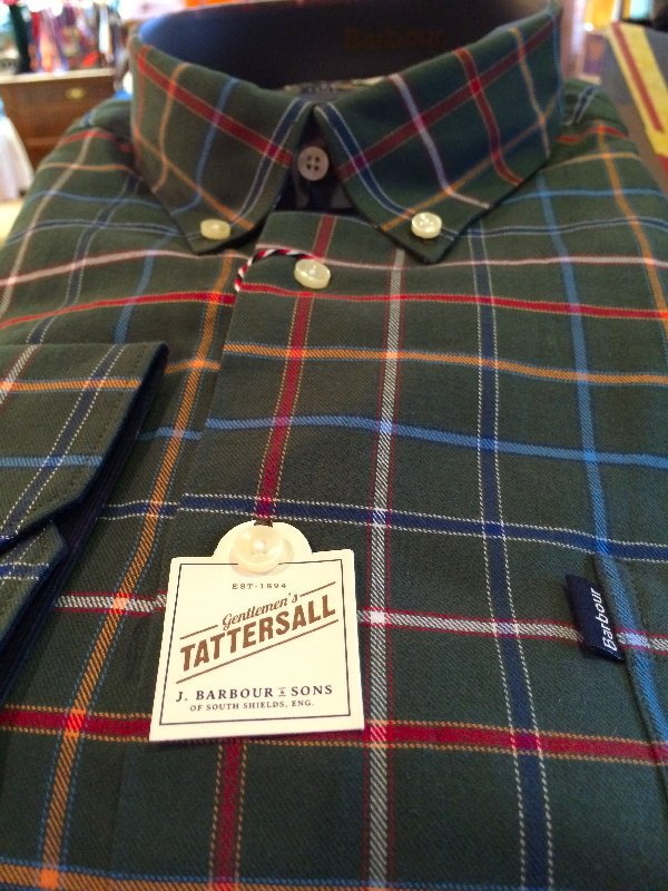 Barbour green tatter