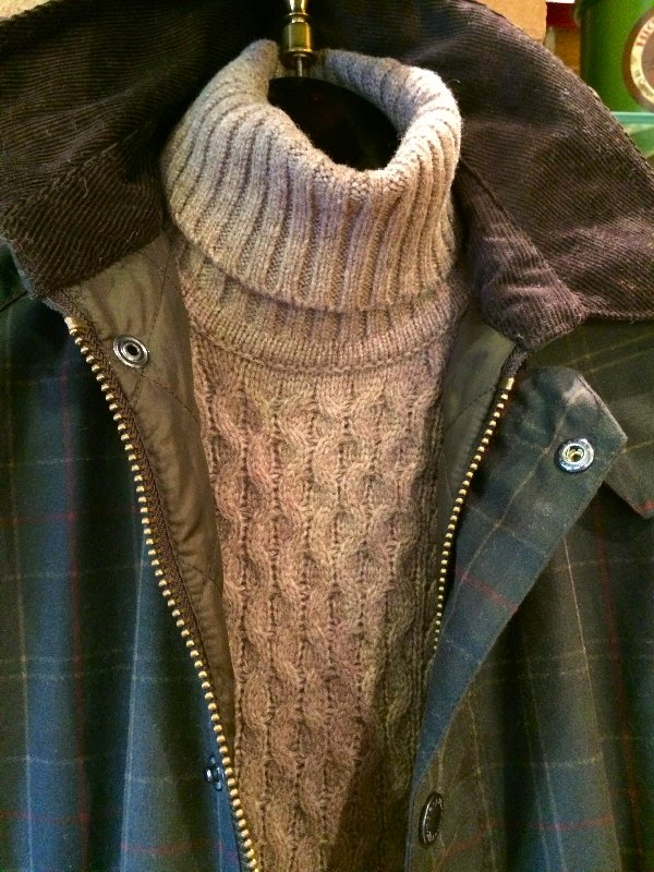 Barbour tneck and Beaufort