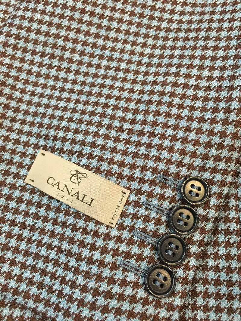 Canali blue brown hounds