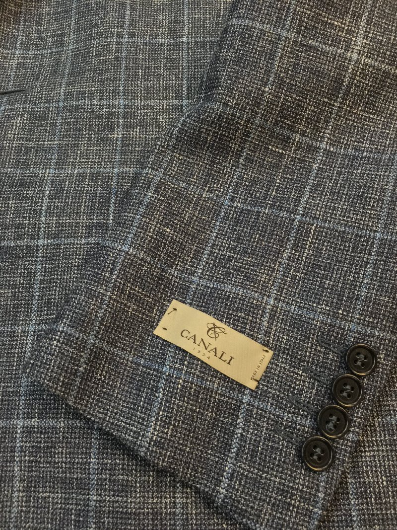 Canali blue with light blue wiondowpane
