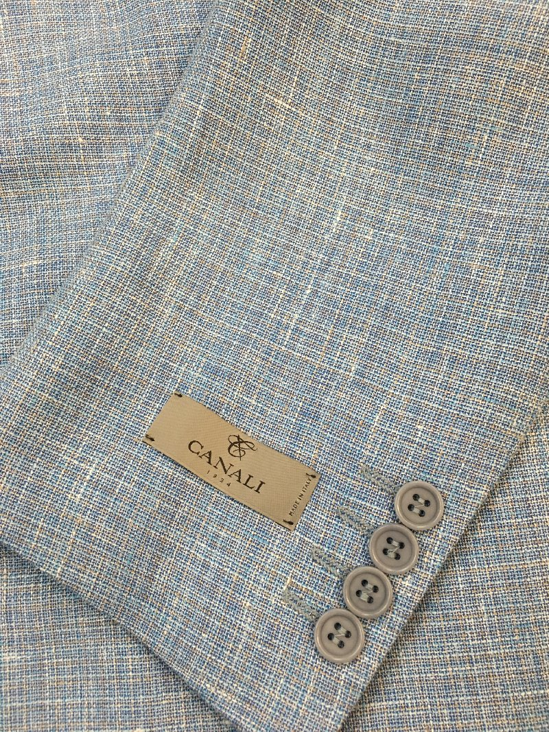 Canali light blue jacket