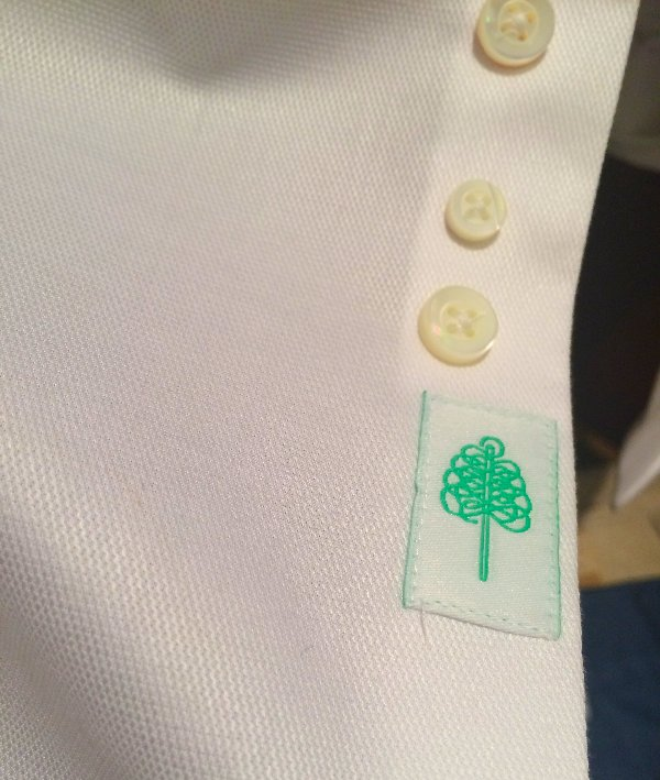 Forrest Lennard tag on placket