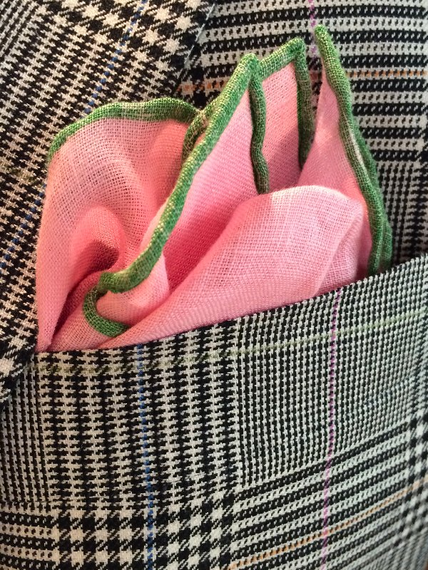 Hickey spt coat pocket square
