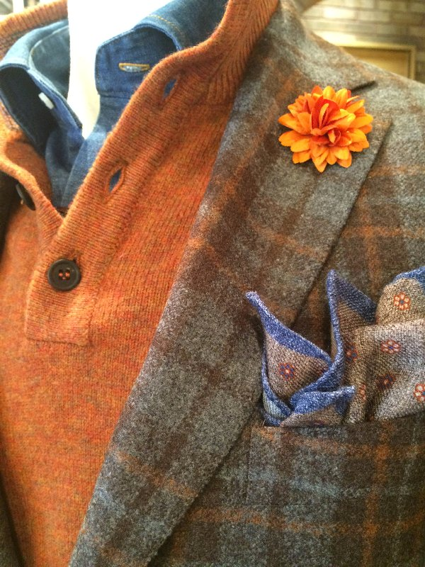 Millar gray orange manny detail