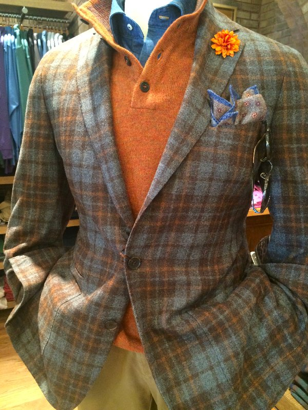 Millar gray orange sport coat manny