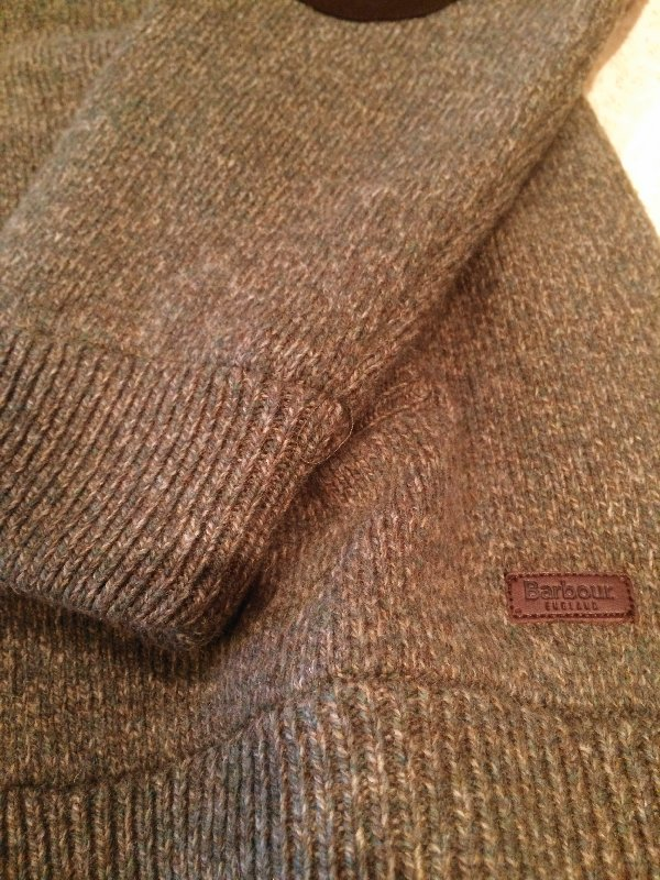 barbour sweater detail